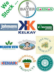 Gardening brands sold at Del's Nursery